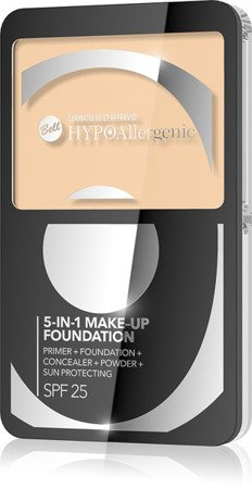 BELL HypoAllergenic 5in1 Foundation SPF25 01 Natural podkład 13,5g