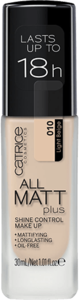 CATRICE All Matt Plus Shine Control Make Up podkład kryjący 010 Light Beige 30ml