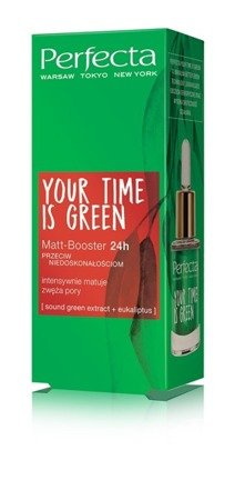 PERFECTA Your Time Is Green Matt-Booster 24h przeciw niedoskonałościom 15ml